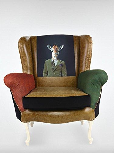 Barock Vintage Loungesessel Sessel 94 x 85 x 96 cm Cocktailsessel aus Walnuss roomeo24®