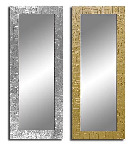 Bilderdepot24 Wandspiegel Spiegel - Kacheln ca. 135x45 cm - Silber