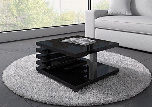 Couchtisch Oslo 60x 60cm (schwarz hochglanz)