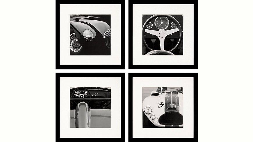 G&C gerahmte Fotografie »Retro: Classic cars Bilderset«, 4 Bilder à 30/30 cm