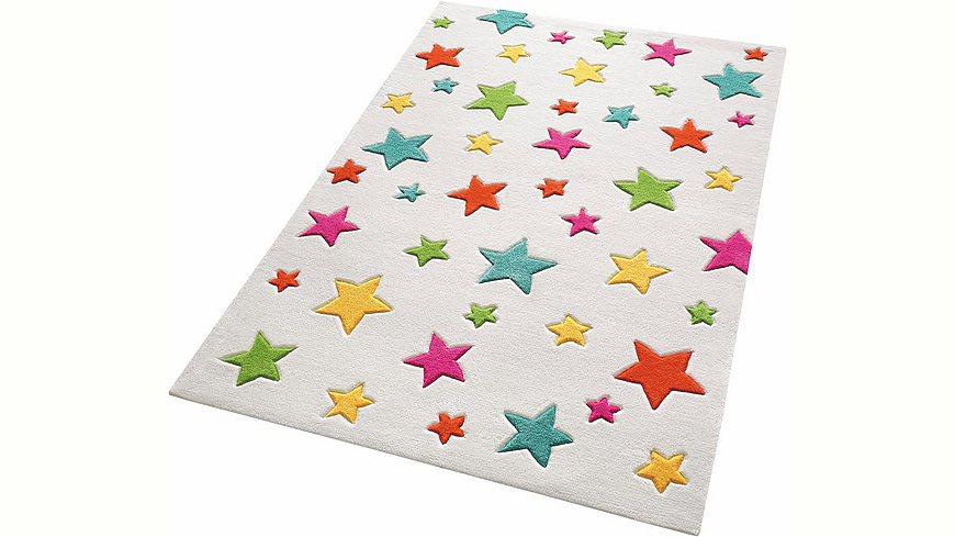 kinder teppich smart kids simple stars handgetuftet m bel24. Black Bedroom Furniture Sets. Home Design Ideas