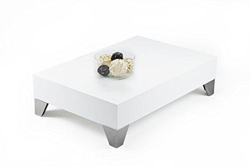 Tisch Couchtisch Beistelltisch Kaffeetisch Wohnzimmertisch Hochglanz weiß EV9