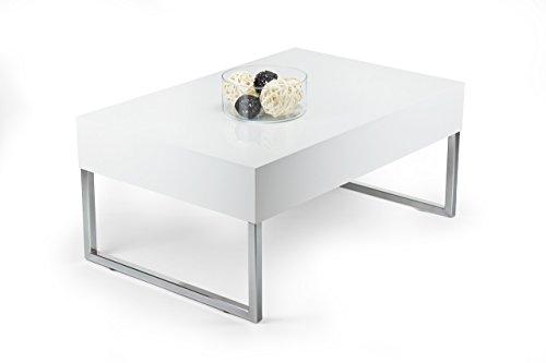 Tisch Couchtisch hochglanz weiß mod. EVO XL