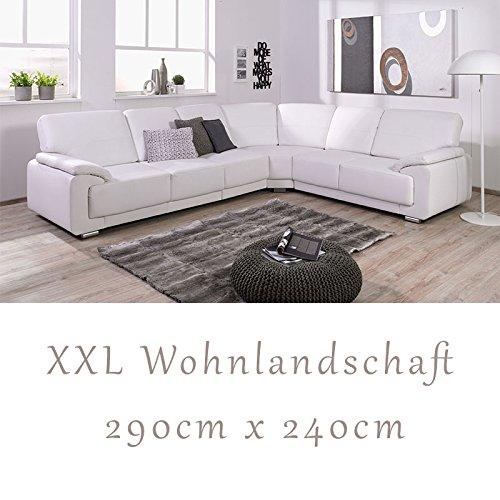 """Wohnlandschaft, Couchgarnitur """"NADIA"""", in Softlux Weiß"""