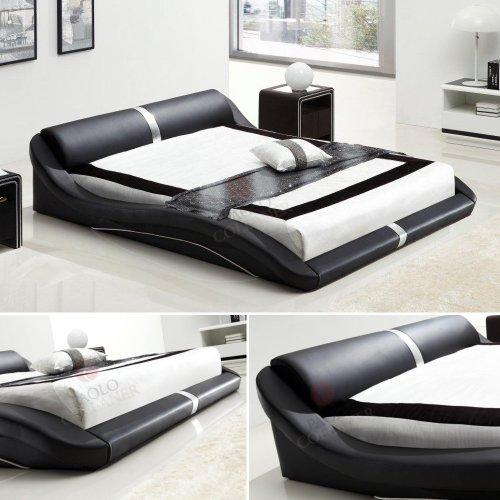 i-flair® - Designer Bett 140x200 cm Paola Schwarz #58