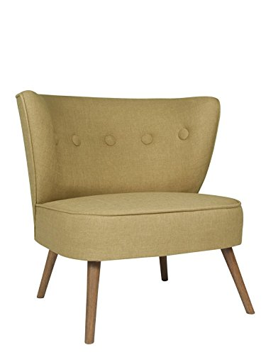 roomeo24® Designer Retro Sessel | BRENTWOOD | 80 x 77 x 72 cm (BxHxT) | Loungesessel in coffee