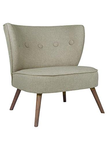 roomeo24® Designer Retro Sessel   BRENTWOOD   80 x 77 x 72 cm (BxHxT)   Loungesessel in grau