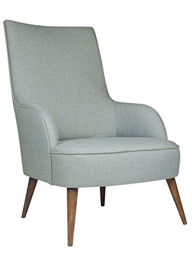 roomeo24® Designer Retro Sessel | LONG-ISLAND | 69 x 107 x 89 cm (BxHxT) | Loungesessel in indigo-blau