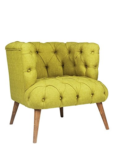 roomeo24® Designer Retro Sessel | PALO ALTO | 75 x 76 x 80 cm (BxHxT) | Loungesessel in pistazien-gruen