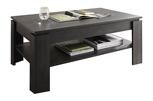 trendteam CT11269 Couchtisch Wohnzimmertisch Tisch Esche grau Nachbildung, LxBxH 110x65x47 cm, Melamin