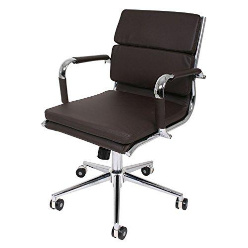 butik fl80572 design schreibtischstuhl vancouver mit niedriger lehne lederimitat braun 72 x 46. Black Bedroom Furniture Sets. Home Design Ideas