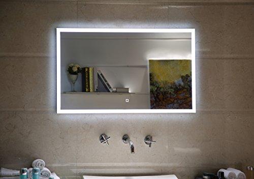 badspiegel led spiegel gs042 mit beleuchtung durch satinierte lichtfl chen badezimmerspiegel mit. Black Bedroom Furniture Sets. Home Design Ideas
