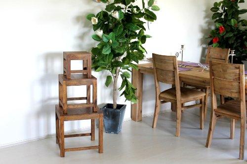 Beistelltisch B/H/T 35 cm Couchtisch Wohnzimmertisch Tisch Palisander Massivholz Massivholztisch