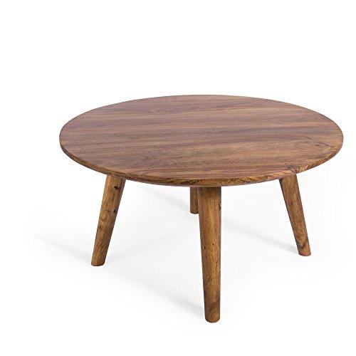 Couchtisch Palisander Massiv-Holz Sheesham 75x75x40 Stone Finish