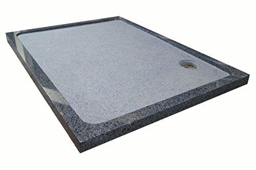 Duschwanne aus Naturstein, Duschtasse, Granit, 120*90cm, anthrazit, G654