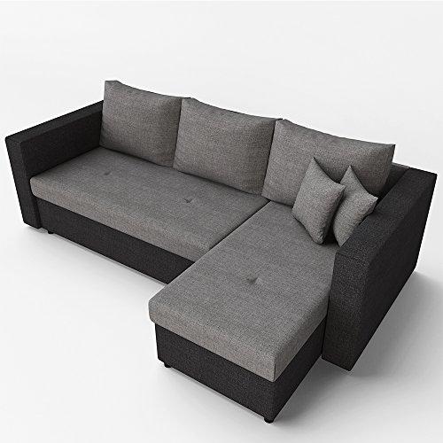 Ecksofa mit schlaffunktion sofa couch schlafsofa for Schlafsofa mit bettfunktion