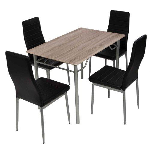 esstischgruppe tischgruppe sitzgruppe mit 4 st hlen und esstisch 110x70 cm m bel24. Black Bedroom Furniture Sets. Home Design Ideas