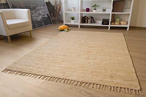 Teppich Baumwolle Waschbar : handwebteppich indira in natur handweb teppich aus 100 baumwolle fleckerl waschbar gr e ~ Watch28wear.com Haus und Dekorationen