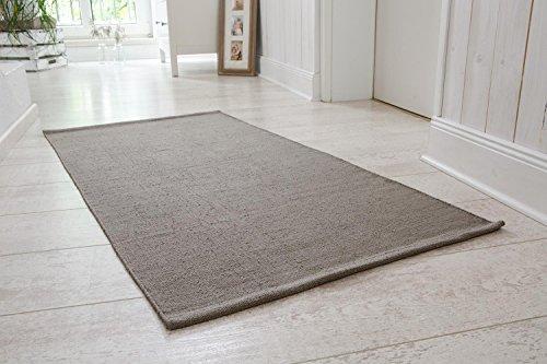 handwebteppich milo l ufer aus 100 baumwolle pflegeleicht waschbar 60 120 cm einfarbig. Black Bedroom Furniture Sets. Home Design Ideas
