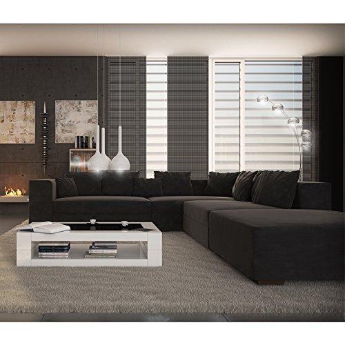 innocent ecksofa diva microfaser schwarz mit ottomane links mit hocker m bel24. Black Bedroom Furniture Sets. Home Design Ideas