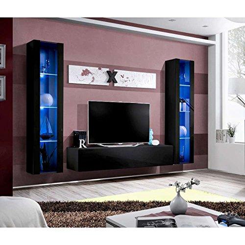 justhome air a ii wohnwand anbauwand schrankwand hxbxt. Black Bedroom Furniture Sets. Home Design Ideas