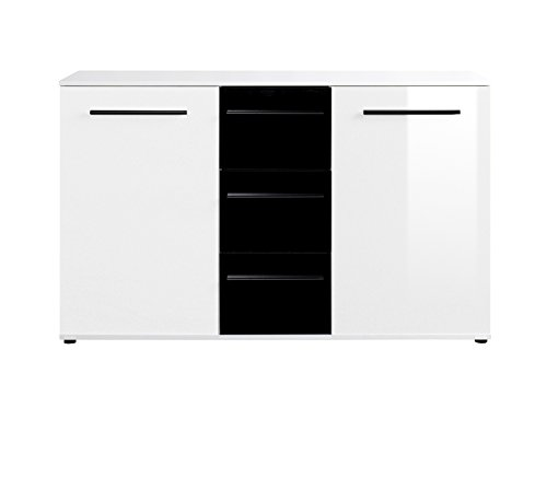 kommode sideboard hochglanz oberflche wei schwarz 0 m bel24. Black Bedroom Furniture Sets. Home Design Ideas