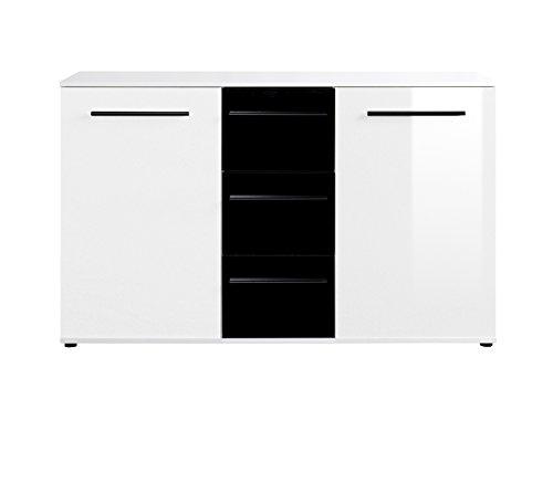 Kommode sideboard hochglanz oberflche wei schwarz 0 m bel24 for Moebel24 shop