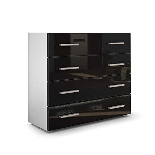 kommode sideboard pavos korpus in wei matt front in schwarz hochglanz m bel24. Black Bedroom Furniture Sets. Home Design Ideas