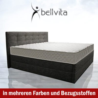 original bellvita mesamoll ii wasserbett in boxspring optik mit kopfteil inkl montage 180 cm x. Black Bedroom Furniture Sets. Home Design Ideas