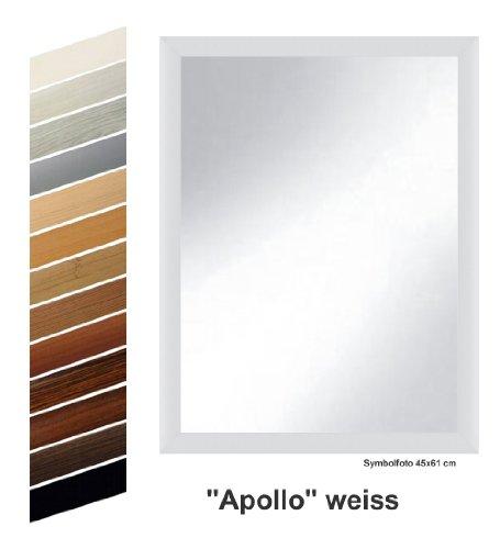 """Rahmen nach Maß S10024561K Spiegel """"Apollo"""" weiß dekor komplett mit Echtglas, 45 x 61 cm"""