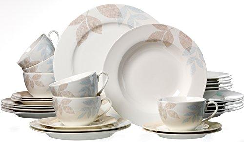 Ritzenhoff & Breker 035841 Kombiservice Cecilia aus Fine China Porzellan, 30-teilig