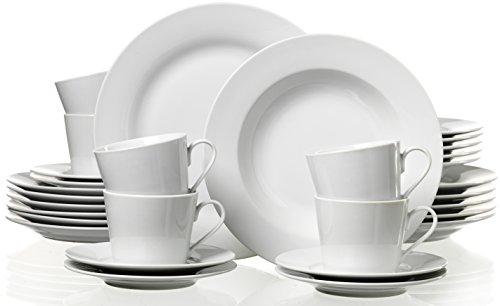 Ritzenhoff & Breker 097252 Kombiservice Bianco, 30-teilig