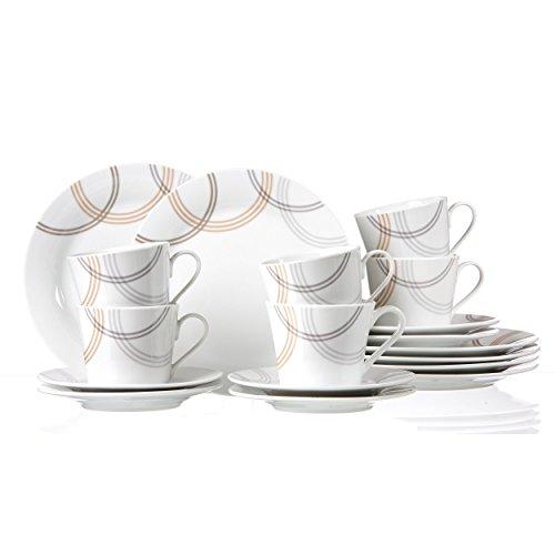 Ritzenhoff & Breker Cordoba Kaffeeservice, Kaffeeset, Geschirr, 18-tlg., Porzellan, 45000
