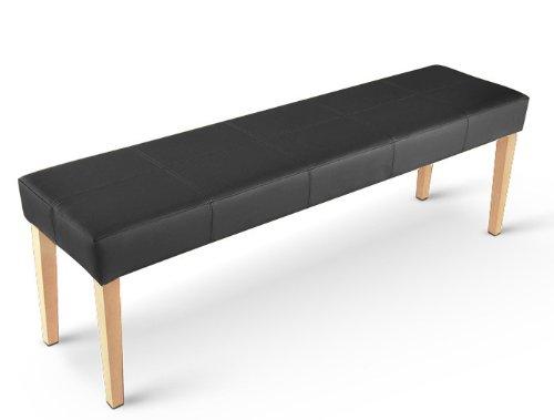 sam esszimmer sitzbank enzio 145 cm in schwarz mit buche. Black Bedroom Furniture Sets. Home Design Ideas