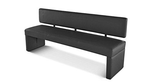 sam esszimmer sitzbank sabatina 200 cm in grau sitzbank mit r ckenlehne aus samolux bezug. Black Bedroom Furniture Sets. Home Design Ideas