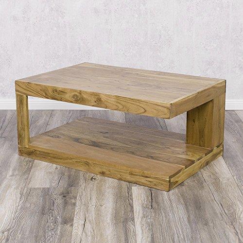 Sheesham Couchtisch Massivholz Palisander Wohnzimmertisch Shiva 90x60cm Tisch