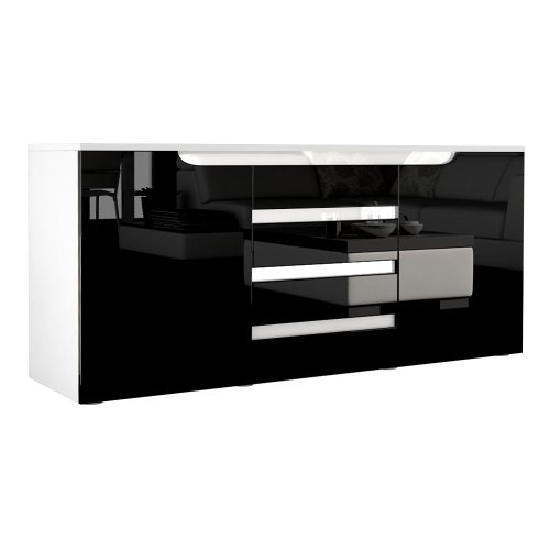 sideboard kommode sylt korpus in wei matt front in. Black Bedroom Furniture Sets. Home Design Ideas