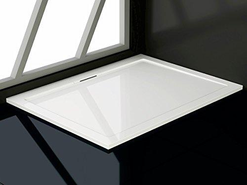 Soho Duschtasse aus Mineralguss Rechteckig 80x90, 80x100, 90x120, 90x140 cm Duschwanne; Maße: 90x120 cm