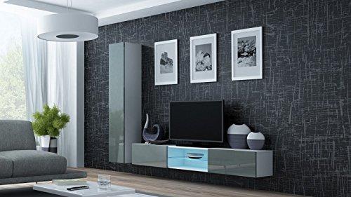 wohnwand 39 vigo 21 39 hochglanz h ngeschrank lowboard cube farbe wei grau m bel24. Black Bedroom Furniture Sets. Home Design Ideas