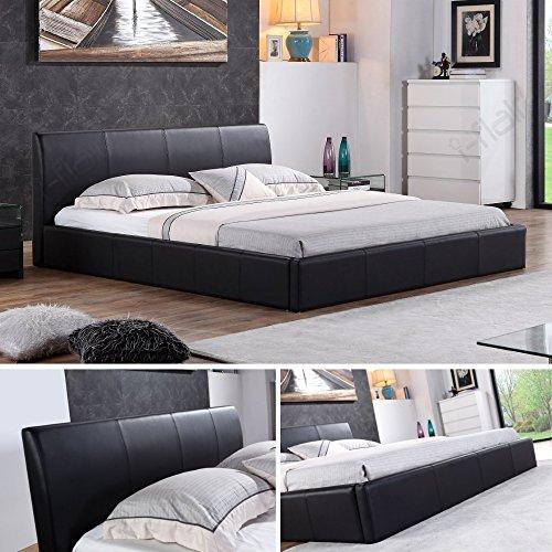 i-flair® - Designer Polsterbett, MONACO Bett 180x200 cm schwarz - alle Farben & Größen