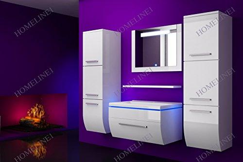 badm bel set vormontiert badezimmerm bel komplett set waschbeckenschrank mit waschtisch spiegel. Black Bedroom Furniture Sets. Home Design Ideas