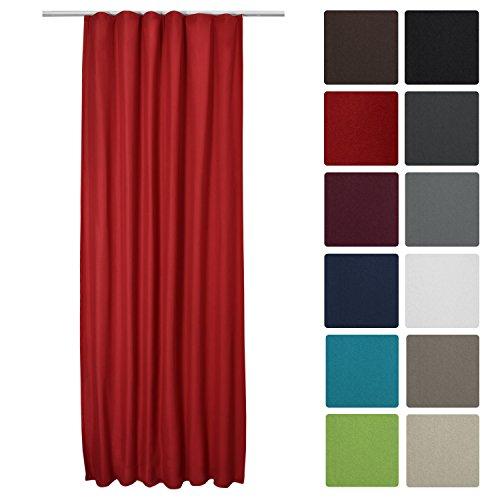Beautissu® Thermo-Vorhang Amelie mit Kräuselband - 140x245 cm - Isolierende Gardine Universalband - diverse Farben