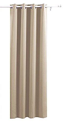 deconovo verdunkelungsvorhang mit oesen 140x175 und 140x245 m bel24. Black Bedroom Furniture Sets. Home Design Ideas