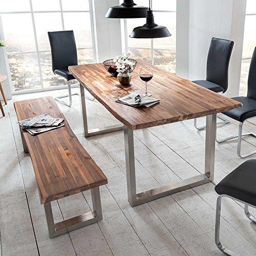 essgruppe mit bank baumkante 2 teilig pharao24 m bel24. Black Bedroom Furniture Sets. Home Design Ideas
