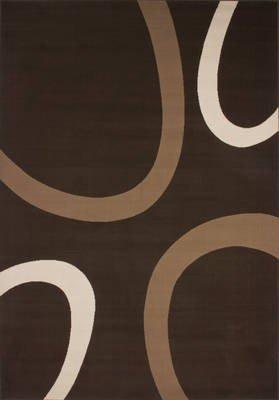 Lalee 347173143 Moderner Designer Teppich / Muster : Kreise Retro / Neu / Braun