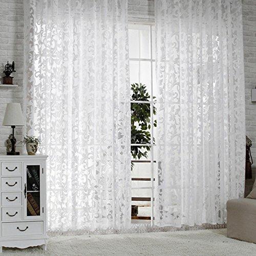 r lang gardinen wohnzimmer mit kr uselband oben vorhang wei m bel24. Black Bedroom Furniture Sets. Home Design Ideas