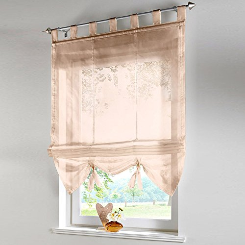 raffrollo schlaufen gardine vorhang transparent f r wohnzimmer hochzeit party deko lianle m bel24. Black Bedroom Furniture Sets. Home Design Ideas