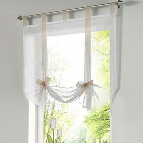 souarts transparent gardine vorhang raffgardinen raffrollo. Black Bedroom Furniture Sets. Home Design Ideas