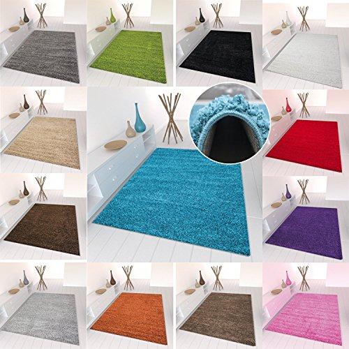 Star Shaggy Teppich Farbe Hochflor Langflor Teppiche Modern für Wohnzimmer Schlafzimmer Uni Farben - Teppich-Home