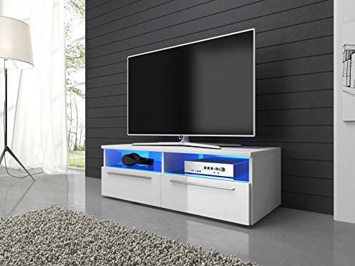 tv mbel lowboard schrank vannes 100 cm mit led beleuchtung. Black Bedroom Furniture Sets. Home Design Ideas